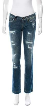 Dolce & Gabbana Low-Rise Distressed Jeans w/ Tags
