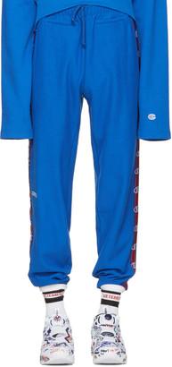 Vetements Blue Champion Edition Lounge Pants $760 thestylecure.com