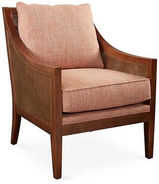 One Kings Lane Nadia Chair - Terracotta Tweed