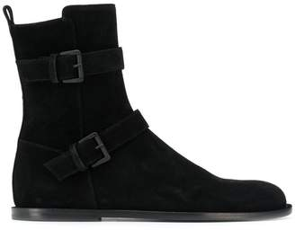 Ann Demeulemeester strap fastening ankle boots