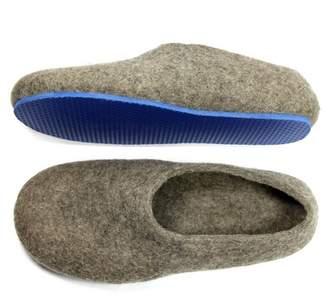 "Organic Wool Slippers ""Brown Royal"""