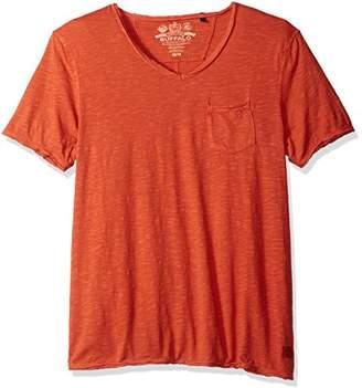 Buffalo David Bitton Men's Kasim Vneck Short Sleeve Knit Tee Shirt