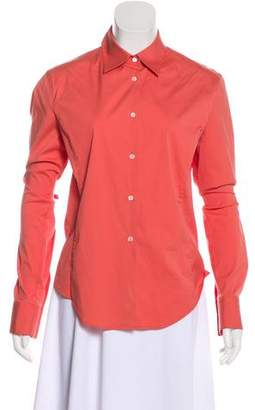Loro Piana Collared Button-Up Top