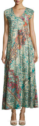 Johnny Was Bellini Graphic-Print Maxi Dress, Multi $269 thestylecure.com