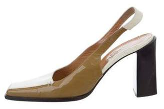Hermes Patent Leather Slingback Pumps