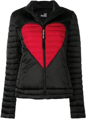 Love Moschino heart print padded jacket
