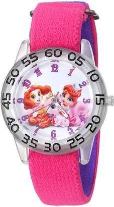 Disney Girl's 'Palace Pet' Quartz Plastic and Nylon Automatic Watch, Color: (Model: W002831)