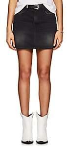 Frame Women's Le Mini Denim Skirt-Black