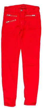 J Brand Zoey Mid-Rise Skinny Pants