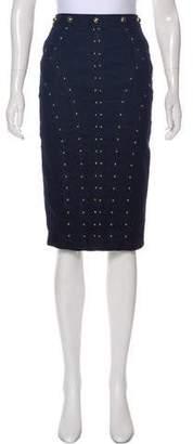Tamara Mellon Embellished Knee-Length Skirt