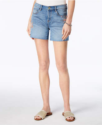 Tommy Hilfiger Embroidered Cutoff Shorts