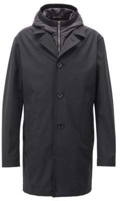 BOSS Hugo Tailored three-in-one coat water-repellent finish 44R Black