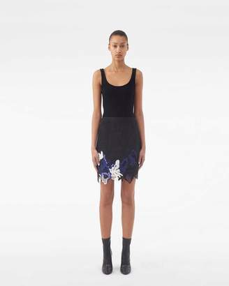 3.1 Phillip Lim Embroidered Lace Miniskirt
