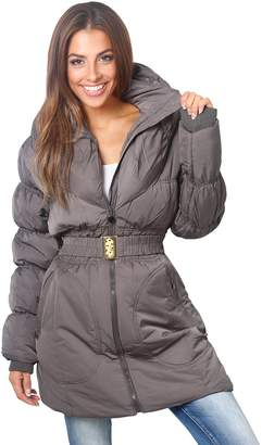 Puffa KRISP Wing Collar Quilted Coat (, US 6/UK 10),[5464-GRY-10]