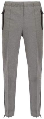 Moncler Straight Leg Jersey Track Pants - Mens - Grey