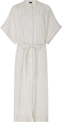 Joseph Jasper Striped Cotton-Poplin Midi Dress