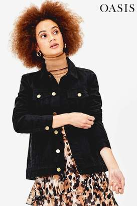 Oasis Womens Black Oversized Denim Jacket - Black