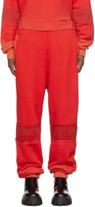Ambush Red Bleach Patchwork Lounge Pants