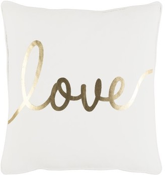 "Artistic Weavers Glyph Romantic Love 18"" x 18"" Pillow Cover"