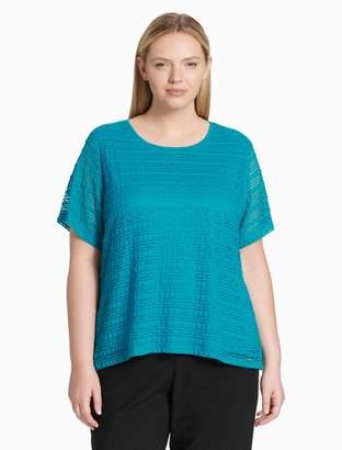 Calvin Klein plus size knit short sleeve top