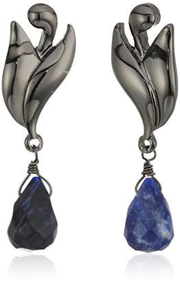 Badgley Mischka Genuine Drop Swirl Drop Earrings