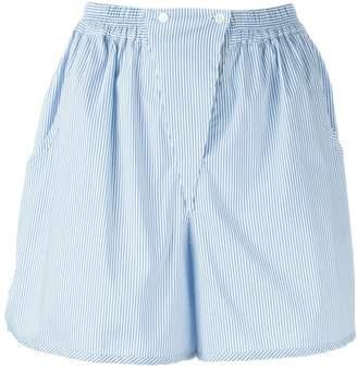 Jil Sander Navy striped panel detail shorts