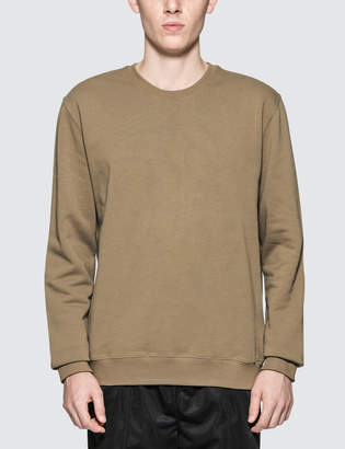 MSGM Embroidered Fray Logo Sweatshirt