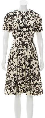 Saint Laurent Wool Short Sleeve Dress