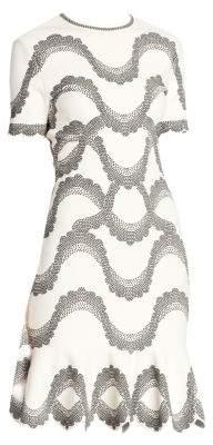 Alexander McQueen Wave Printed A-Line Dress