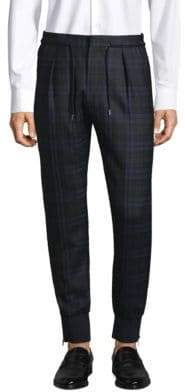 Paul Smith Plaid Wool Trousers