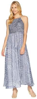 London Times Smocking Yoryu Maxi Dress Women's Dress
