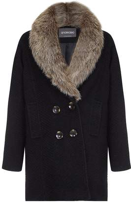 Anastasia Beverly Hills Women's Fur Collar Winter Coat