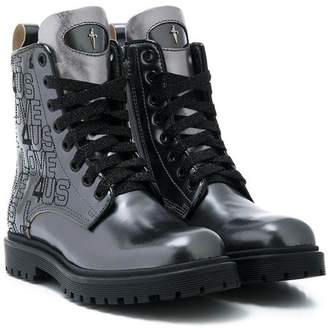 Cesare Paciotti 4Us Kids combat boots