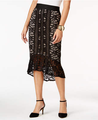 Thalia Sodi Lace Flounce High-Low Skirt