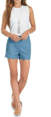 Mud Pie Scallop Hem Blue Shorts $44.95 thestylecure.com