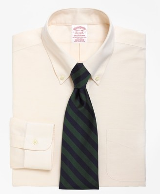 Brooks Brothers BrooksCool Traditional Relaxed-Fit Dress Shirt, Non-Iron Button-Down Collar