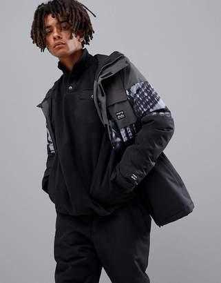Billabong Tribong Snow Jacket in Tye Die Black