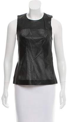 Ohne Titel Sleeveless Leather Top