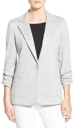 Women's Bailey 44 'Jane' Ruched Sleeve Knit Blazer $278 thestylecure.com