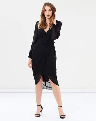 Cooper St Harper Long Sleeve Drape Dress