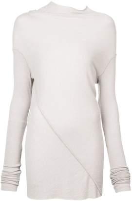 Rick Owens Lilies asymmetric sweater dress