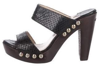 Jimmy Choo Patent Leather Slide Sandals