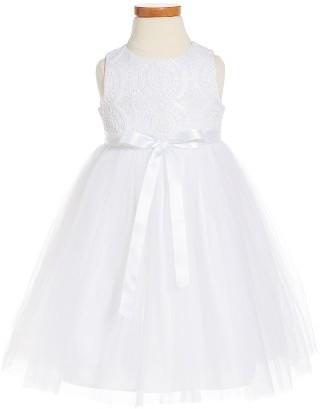 Girl's Pippa & Julie Crochet Sleeveless Dress $54 thestylecure.com