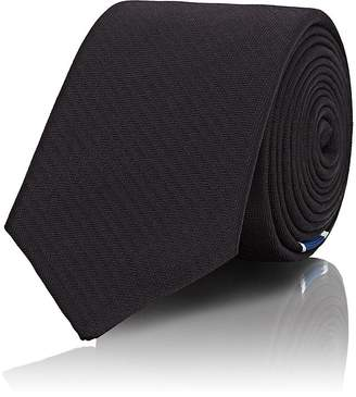 Givenchy Men's Star-Detailed Striped Silk Necktie