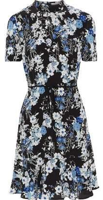 Erdem Bow-Embellished Floral-Print Silk Dress