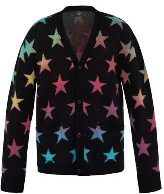 Amiri Star Jacquard Knit Cashmere Blend Cardigan - Mens - Multi