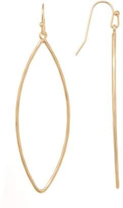 Melrose and Market Hammered Teardrop Hoop Earrings