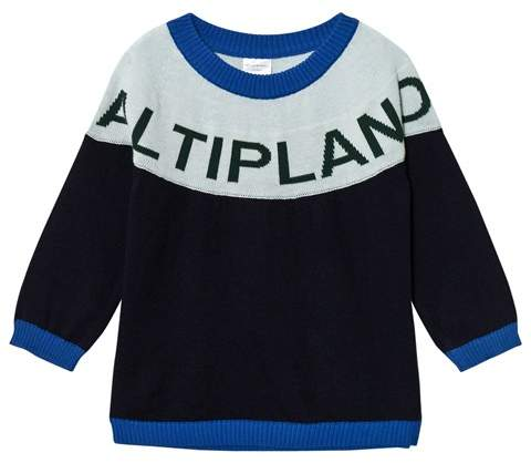 Tinycottons Dark Navy and Light Blue Altiplano Oversized Sweater