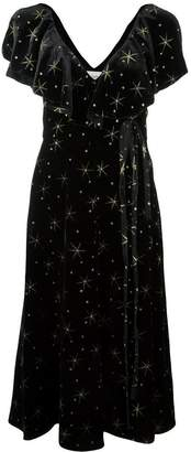 Valentino star embroidered dress