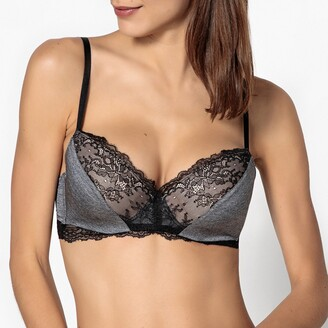 La Redoute Collections Lace and Microfibre Padded Bra